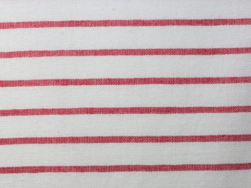 68.20 White and red striped recycled cotton chambray